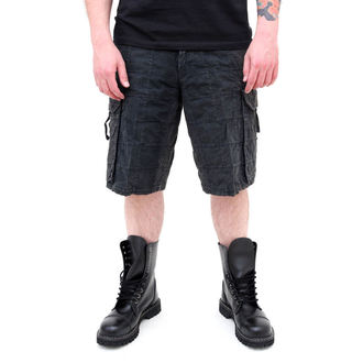 Männer Shorts SURPLUS - Checkboard - SCHWARZE, SURPLUS