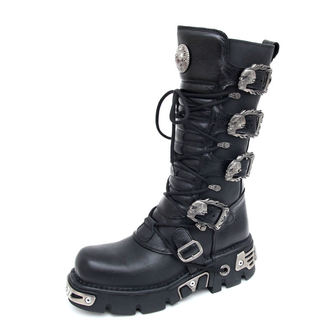 Punk Boots NEW ROCK - 5-Buckle Boots (402-S1) schwarz, NEW ROCK