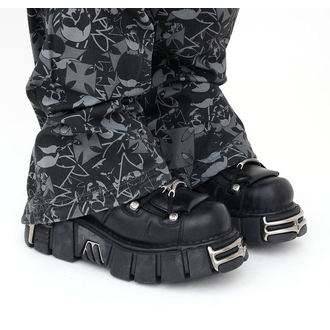Schuhe NEW ROCK - String Shoes (106-S1) Black, NEW ROCK