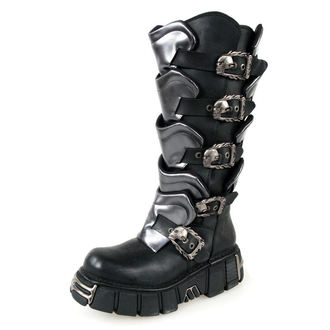 Schuhe NEW ROCK - Gladiator Boots (738-S1) Black-Grey, NEW ROCK