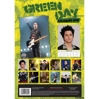 Wandkalender 2018 GREEN DAY, NNM, Green Day