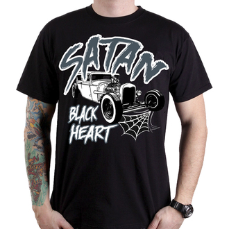 Herren T-Shirt Street - SATAN - BLACK HEART, BLACK HEART