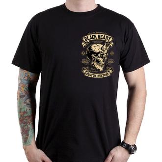 Herren T-Shirt Street - DEVIL - BLACK HEART, BLACK HEART