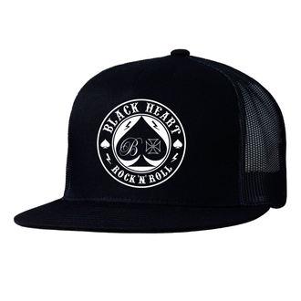 Cap BLACK HEART - ACE OF SPADES - SCHWARZ, BLACK HEART