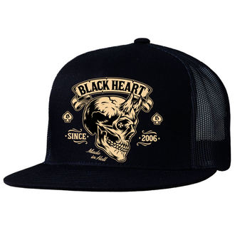 Cap BLACK HEART - DEVIL SKULL - SCHWARZ, BLACK HEART