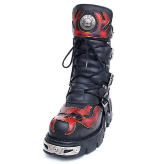 Schuhe NEW ROCK  - Vampire Boots (107-S1) Black-Orange, NEW ROCK