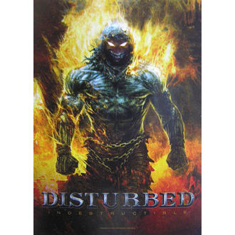 vlajka Disturbed 'Indestructible' HFL 1022, HEART ROCK, Disturbed