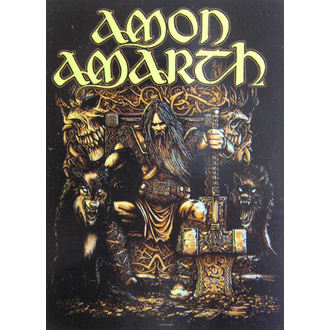vlajka Amon Amarth  HFL 1027, HEART ROCK, Amon Amarth
