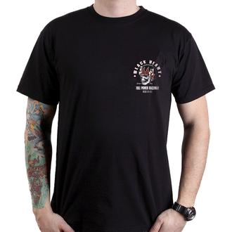 Herren T-Shirt Street - FULL POWER - BLACK HEART, BLACK HEART