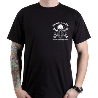 Herren T-Shirt Street - ROBBER - BLACK HEART, BLACK HEART