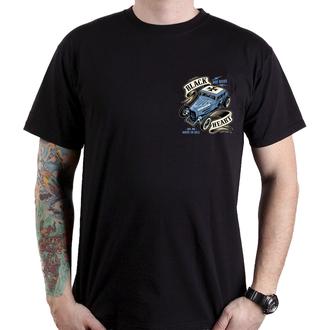 Herren T-Shirt Street - HOT ROD BRUISER - BLACK HEART, BLACK HEART