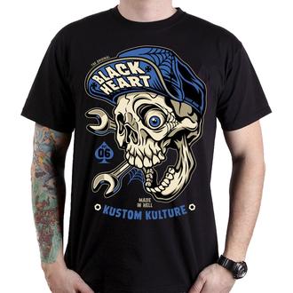 Herren T-Shirt Street - MECHANIC - BLACK HEART, BLACK HEART