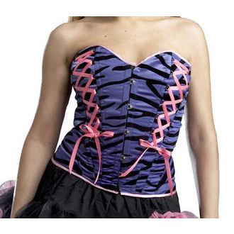 Corset Damen HELL BUNNY 'Tiger Corset' (purple) 3950 PUR, HELL BUNNY
