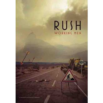 Fahne Rush - Working Men, HEART ROCK, Rush