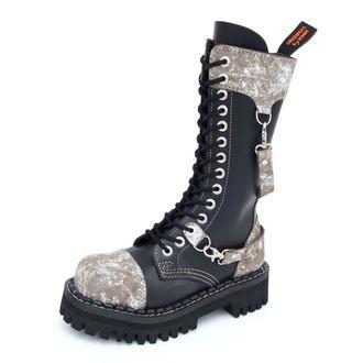 Lederstiefel/Boots KMM 14-Loch - Black/Grey, KMM