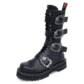 Lederstiefel/Boots KMM 14-Loch - Big Skulls Black Monster 4P, KMM