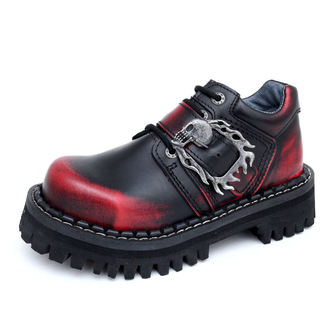 Lederstiefel/Boots KMM 4-Loch - Big Skulls Black Red Monster 1P
