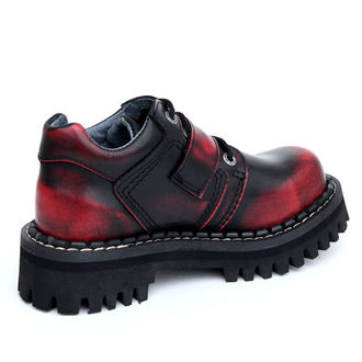 Lederstiefel/Boots KMM 4-Loch - Big Skulls Black Red Monster 1P, KMM