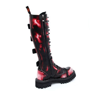 Lederstiefel/Boots KMM 20-Loch - Big Skulls Black Red White Monster 5P, KMM