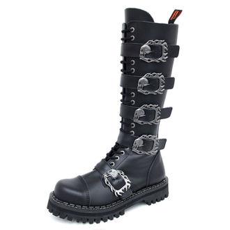 Lederstiefel/Boots KMM 20-Loch - Big Skulls Black Monster 5P, KMM
