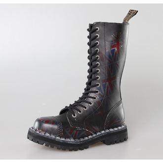 Schuhe STEEL -15 Loch Union Jack Black (135/136 UK Black ), STEEL