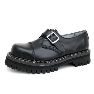 Lederstiefel/Boots KMM 3-Loch - Black mit Schnalle, KMM