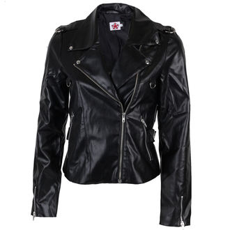 Jacke Damen (Leather Jacket) Black Pistol - Biker Jacket Sky Black, BLACK PISTOL