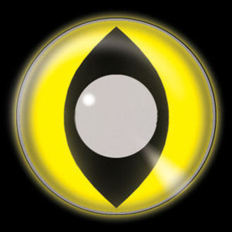 Kontakt- Linsen Glow Yellow Cat UV - EDIT, EDIT