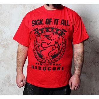 Herren T-Shirt Sick Of It All - HC Crest - Red, Buckaneer, Sick of it All