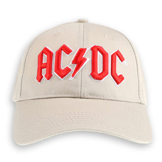 Kappe Cap AC / DC - Red Logo Sand - ROCK OFF, ROCK OFF, AC-DC