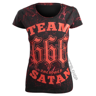 Damen T-Shirt Hardcore - TEAM SATAN - AMENOMEN, AMENOMEN