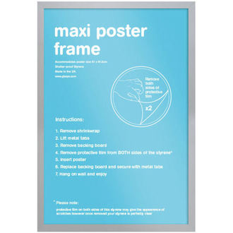 Rahmen eines Posters (61x91,5 cm) - Silver - GB Posters, GB posters