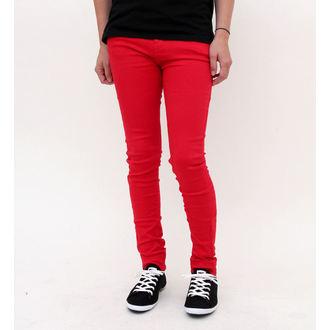 Damen Hose  HELL BUNNY - Super Skinny - Red, HELL BUNNY