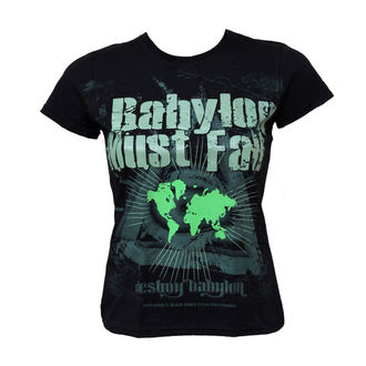 Damen T-Shirt  BLACK ICON - Babylon Must Fall - Black, BLACK ICON
