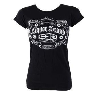 Damen T-Shirt  LIQUOR BRAND - Coffin, LIQUOR BRAND