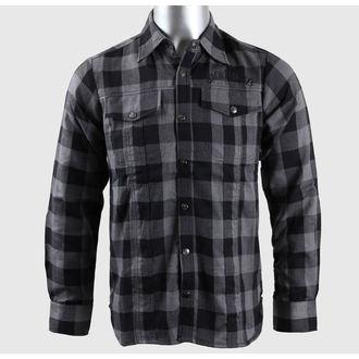 Herrenhemd   Langarmshirt Jack Daniel´s - Black/Grey - Bioworld, JACK DANIELS
