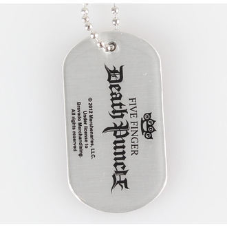 Dog Tag Five Finger Death Punch - Knuckle Crown - RAZAMATAZ, RAZAMATAZ, Five Finger Death Punch