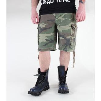 Herren Shorts   MIL-TEC - Paratrooper - Prewash Woodland - 11403020