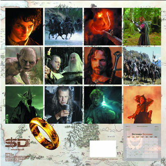 Kalender  das Jahr 2013 Lord of the rings - English & Spanish Version