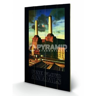 Holzbild Pink Floyd - Animals - Pyramid Posters, PYRAMID POSTERS, Pink Floyd
