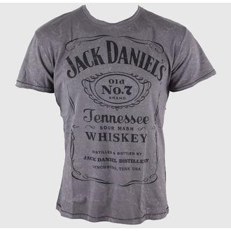 Herren T-Shirt Jack Daniels - Acid Washed - Bioworld, JACK DANIELS