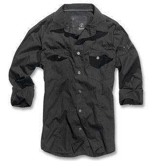 Herren Hemd Brandit - Men Hemd Slim - Black, BRANDIT