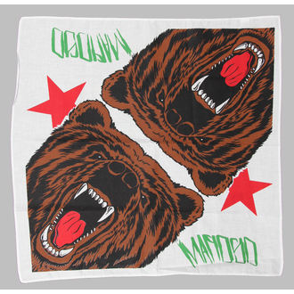 Halstuch Mafioso - Cali Bear - weiß, MAFIOSO