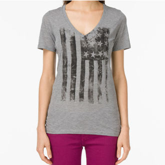 Damen T-Shirt VANS  - G Distressed America - Grey Heather, VANS