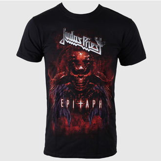 Herren T-Shirt Judas Priest - Epitaph Red Horns - JPTEE07MB, ROCK OFF, Judas Priest