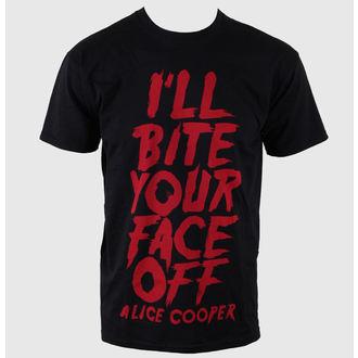 Herren T-Shirt Alice Cooper - Bite Your Face Off - EMI, ROCK OFF, Alice Cooper