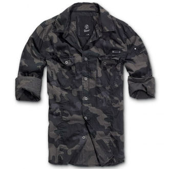 Herrenhemd   BRANDIT - Men Hemd Slim Darkcamo, BRANDIT