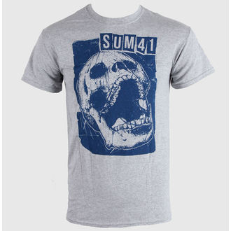 Herren T-Shirt SUM 41 - Skull Sports - Grey - LIVE NATION, LIVE NATION, Sum 41