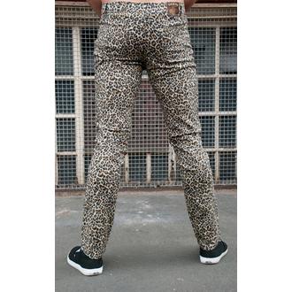 Herren Hose  3RDAND56th - Leopard Skinny Jeans - Natural Leo