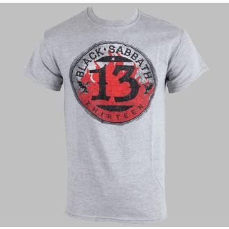 Herren T-Shirt Black Sabbath - 13 Flame Circle - Grey - ROCK OFF, BRAVADO EU, Black Sabbath